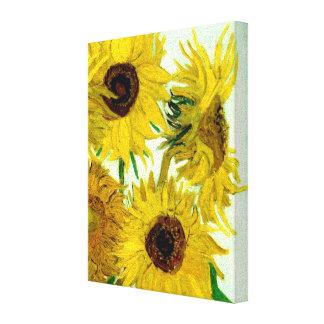 Vas med tolv solrosor, Van Gogh konst Canvastryck