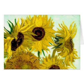 Vas med tolv solrosor, Van Gogh konst Hälsningskort