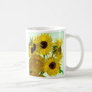 Vas med tolv solrosor, Van Gogh konst Kaffemugg