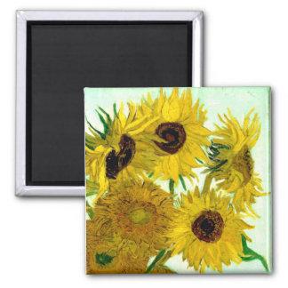 Vas med tolv solrosor, Van Gogh konst Magnet