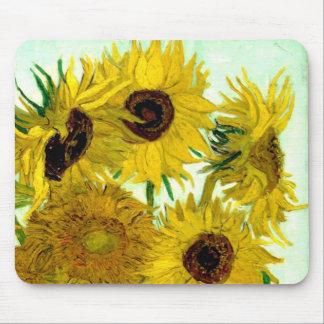 Vas med tolv solrosor, Van Gogh konst Musmatta