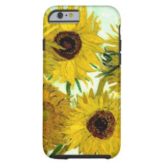 Vas med tolv solrosor, Van Gogh konst Tough iPhone 6 Fodral