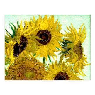 Vas med tolv solrosor, Van Gogh konst Vykort