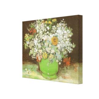 Vas med Zinnias och blommor av Vincent Van Gogh Canvastryck