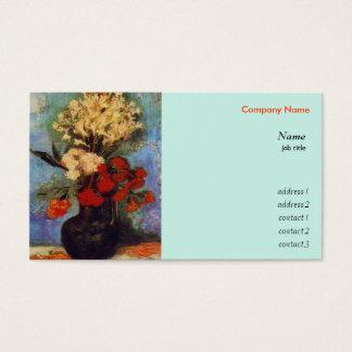 Vasen med nejlikor och annan blommar Van Gogh Visitkort