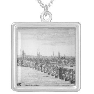 Väster beklär av London överbryggar, 1749 Silverpläterat Halsband