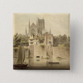 Väster beskådar av den Worcester domkyrkan, 1798 ( Standard Kanpp Fyrkantig 5.1 Cm