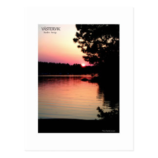 Västervik, Sverige i solnedgång Vykort