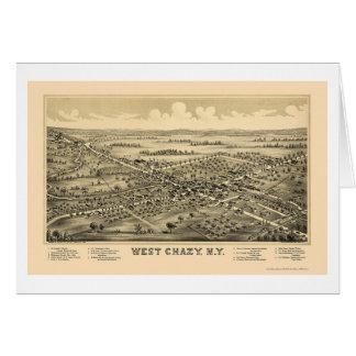 Västra Chazy, panorama- karta för NY - 1899 Hälsningskort
