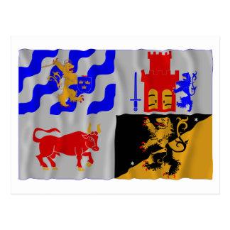 Västra Götalands län som vinkar flagga Vykort