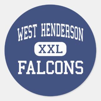 Västra Henderson - falkar - kick - Hendersonville Runt Klistermärke
