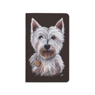 Västra höglands- illustration för husdjur för anteckningsbok