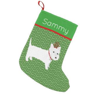 Västra höglands- Terrier för Jolly jul Liten Julstrumpa