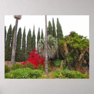 Västra Hollywood trädgård Poster