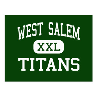 Västra Salem - jättar - högstadium - Salem Oregon Vykort