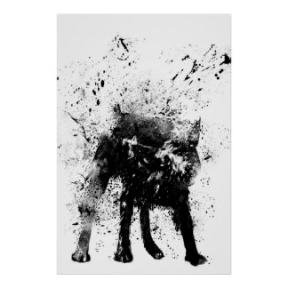 våt hund affisch