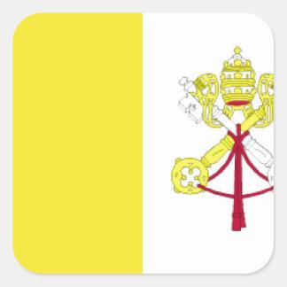 Vatican City flagga Fyrkantigt Klistermärke