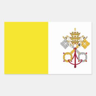 Vatican City flagga Rektangulärt Klistermärke