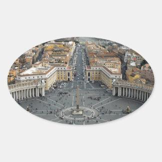 Vatican City Ovalt Klistermärke
