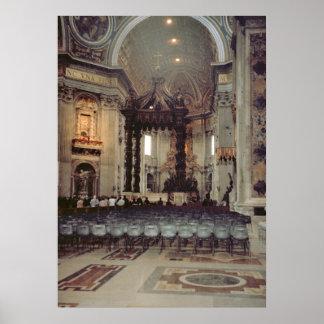 Vatican Pope i gallerit av St Peter Poster
