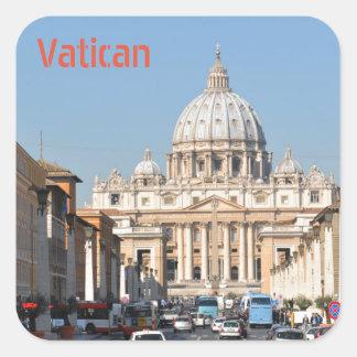 Vatican Rome, italien Fyrkantigt Klistermärke