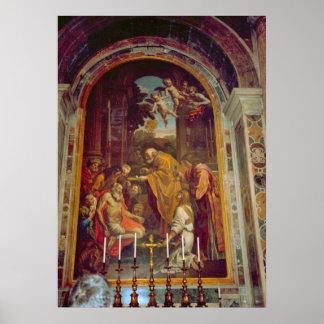 Vatican sidokapell i St Peter Poster
