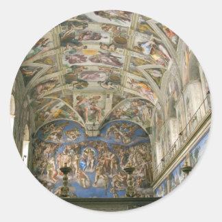 Vatican Sistine kapell Runt Klistermärke