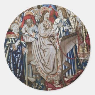 Vatican Tapestry Runt Klistermärke