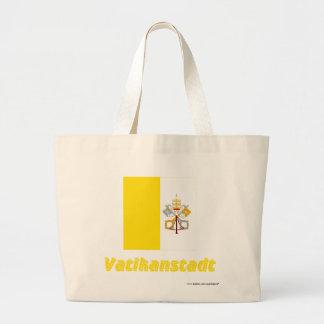 Vatikanstadt Flagge mit Namen Kasse