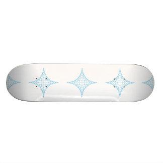 Vatten (blått) skateboard bräda 20,5 cm