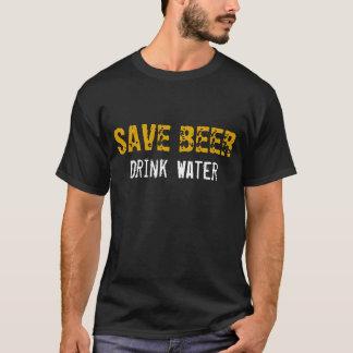 Vatten för sparaöldrink t shirt