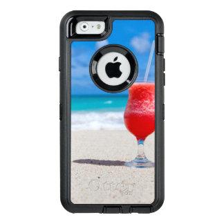 Vatten för turkos för strand för coctaildrink OtterBox defender iPhone skal
