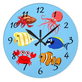Vatten- livtecknader för vibrerande färg stor klocka