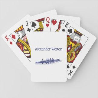 Vatten sport för lag för besättning för spel kort