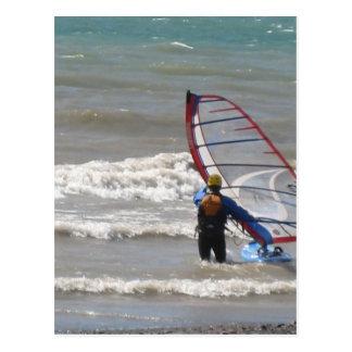 vatten-vind surfa vykort