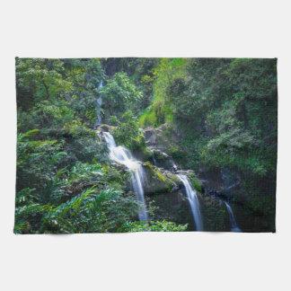 Vattenfall i Maui Hawaii Kökshanddukar