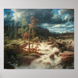 Vattenfall i Småland Posters