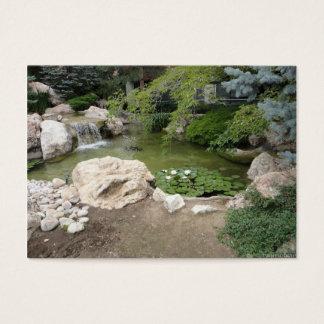 Vattenfall- och liljafotovisitkort visitkort