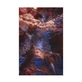 Vattenfall på Arizona Hot Springs Canvastryck