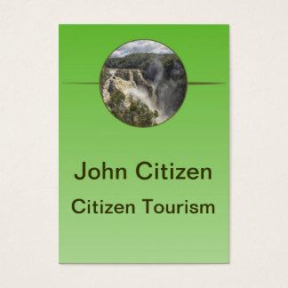 Vattenfall på grön lutning visitkort