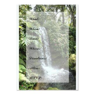 Vattenfallinbjudan -- Underbar för dop! 12,7 X 17,8 Cm Inbjudningskort