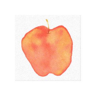 Vattenfärg Apple Canvastryck
