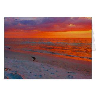 Florida Gulf Coast Sunset watercolor