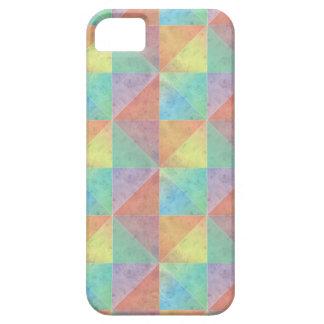 Vattenfärg fyllt geometriskt mönster för triangel iPhone 5 fodraler