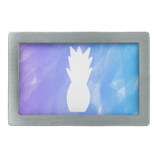 Vattenfärgananas - lila/blått