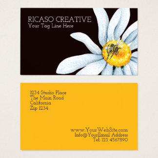 Vattenfärgbi på blommaanpassningsbarpersonlig visitkort