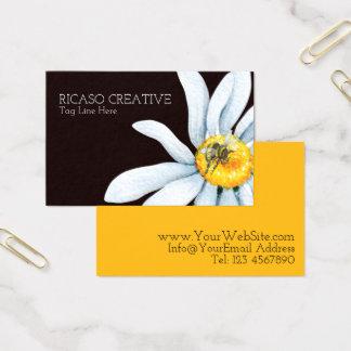 Vattenfärgbi på blommapersonlig visitkort