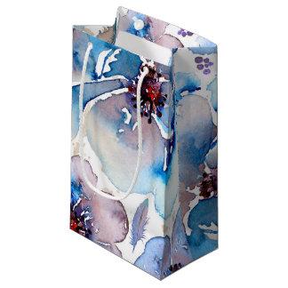 Vattenfärgblått blom- Boho befjädrar bröllop