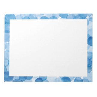 vattenfärgblått pricker anteckningsblock 8,5 x 11