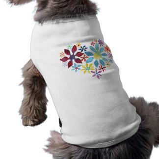 Vattenfärgblommahjärta Långärmad Hundtöja